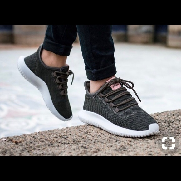 new arrival b2549 f920d adidas Shoes - Women s adidas olive and pink tubular shadow shoes
